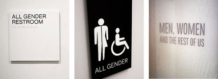 Gender inclusive restroom signs