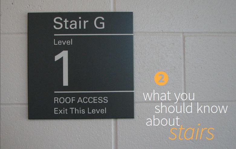 stair landing sign